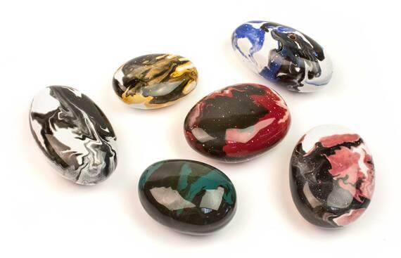 Декоративные керамические камни цветные - 14 шт (в наличии и под заказ)