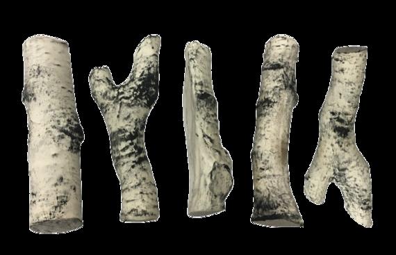 Керамические дрова береза  5 шт (в наличии и под заказ)