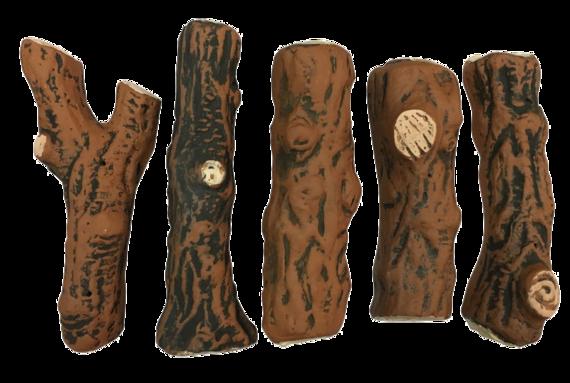 Керамические дрова темные  5 шт (в наличии и под заказ)